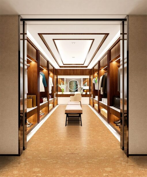 wood ridge forna cork floor modern walk in closet interior design