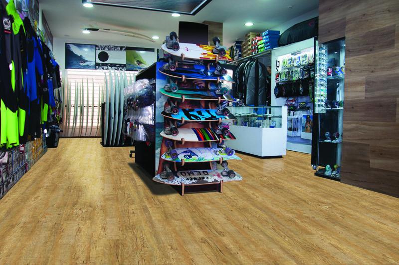 yellow cedar design concept cork floor store shop